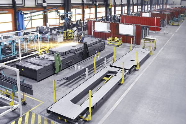 TRUMPF Haguenau has specialized in the manufacture of large sheet metal equipment.